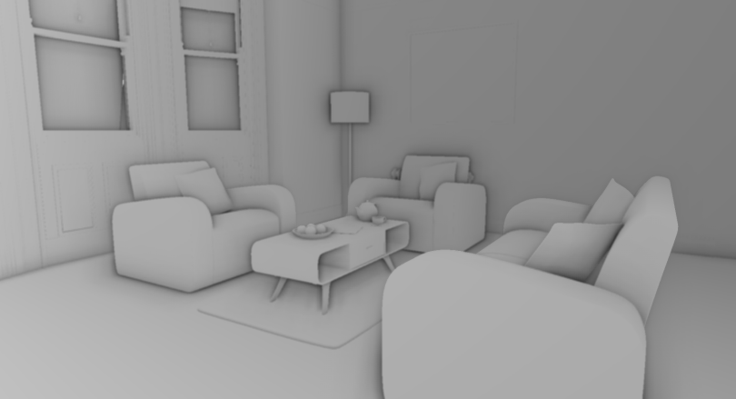 Living Room SSAO Image